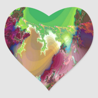 Abstract Colors Star Nurseries Heart Stickers