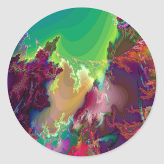Abstract Colors Star Nurseries Round Sticker