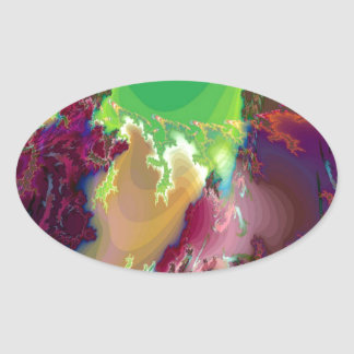 Abstract Colors Star Nurseries Sticker