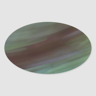 Abstract colors oval sticker