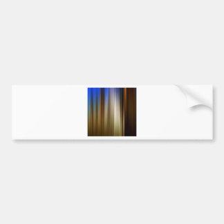 Abstract Colors Stripey Dark Light Car Bumper Sticker