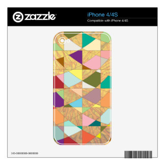 Abstract Colors Sun Burst iPhone 4 Decals