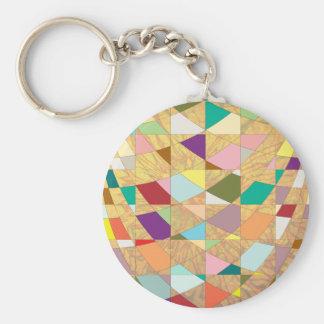 Abstract Colors Sun Burst Keychain