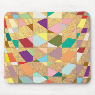 Abstract Colors Sun Burst Mouse Pad