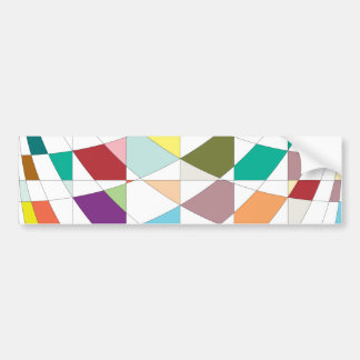 Abstract Colors Tapestry Bumper Sticker