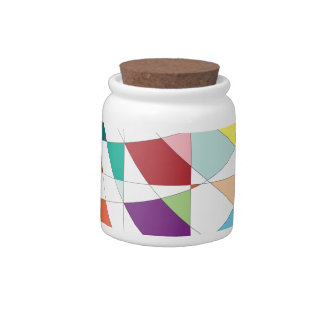 Abstract Colors Tapestry Candy Jar