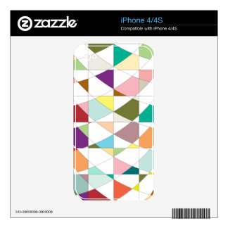 Abstract Colors Tapestry Skin For iPhone 4