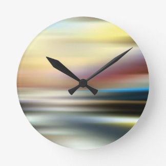 Abstract Colors The Endless Room Round Clocks