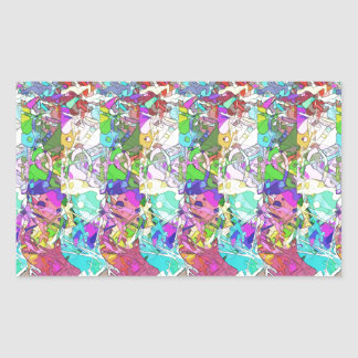 Abstract Colors Variation Rectangular Sticker