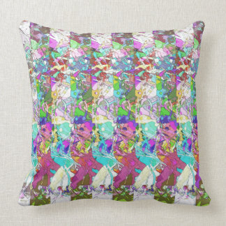Abstract Colors Variation Throw Pillows