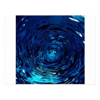 Abstract Colors Vortex Twist Postcard