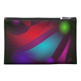 Abstract Colors with Black Background Travel Accessory Bag