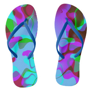 Abstract Colorsplash Flip Flops
