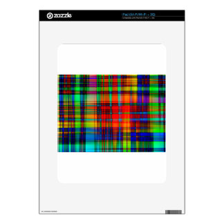 Abstract Coloured Art Lines iPad Decals