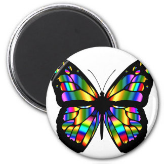Abstract Coloured Butterfly 2 Inch Round Magnet
