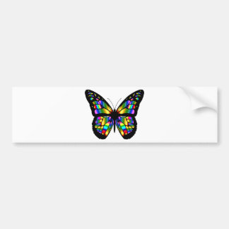 Abstract Coloured Butterfly Bumper Sticker