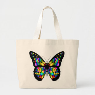 Abstract Coloured Butterfly Large Tote Bag