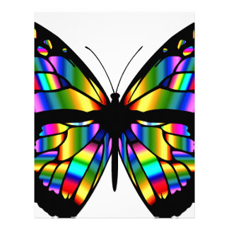 Abstract Coloured Butterfly Letterhead
