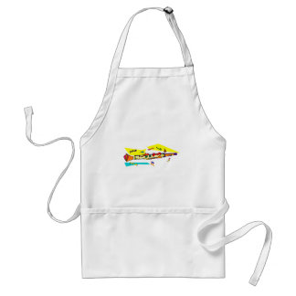 Abstract colourful clarinet graphic image design adult apron