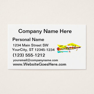 Abstract colourful clarinet graphic image design business card