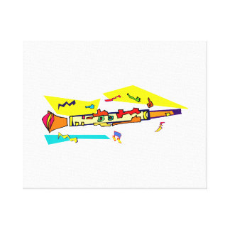 Abstract colourful clarinet graphic image design canvas print
