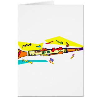 Abstract colourful clarinet graphic image design card