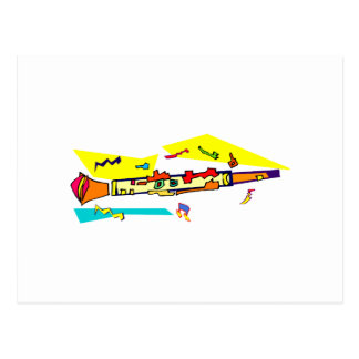 Abstract colourful clarinet graphic image design postcard
