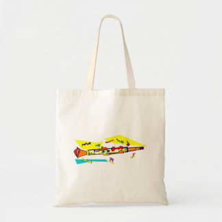 Abstract colourful clarinet graphic image design tote bag