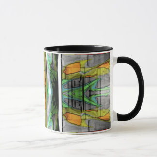 Abstract colourful design mug