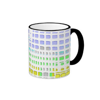Abstract colourful design mugs