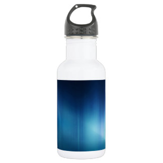 Abstract Colours Great White Blue Water Bottle