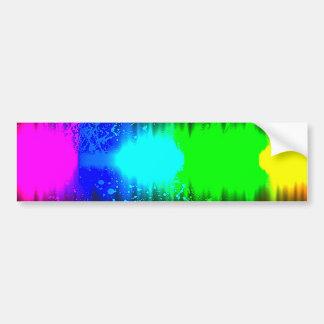 abstract colours line car bumper sticker