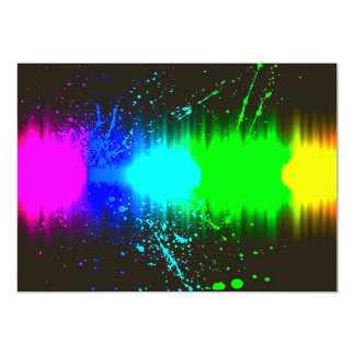 abstract colours line card