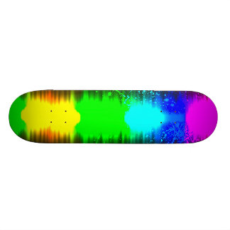 abstract colours line skateboards