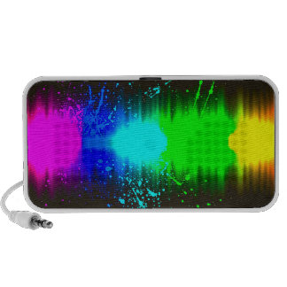 abstract colours line speaker