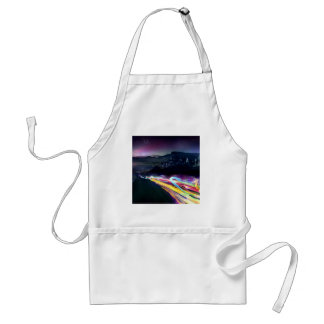 Abstract Colours Northern Lights Road Adult Apron