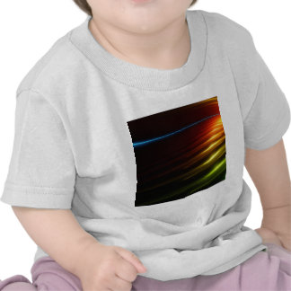 Abstract Colours Ray Of Lights Tee Shirt