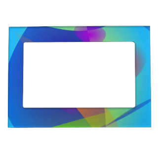 Abstract Composition Light Blue Magnetic Picture Frames