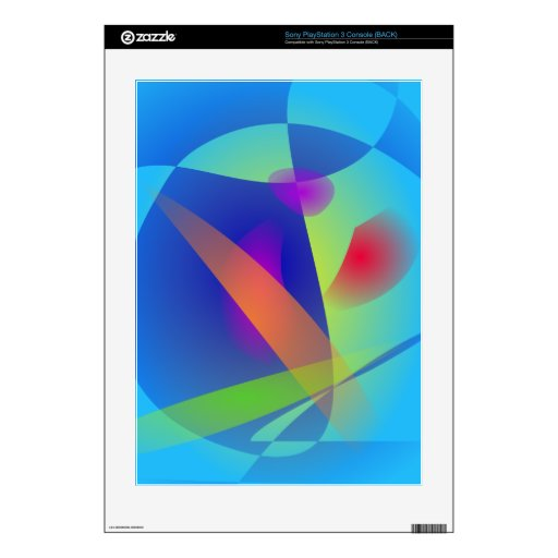 Abstract Composition Light Blue Decal For The PS3
