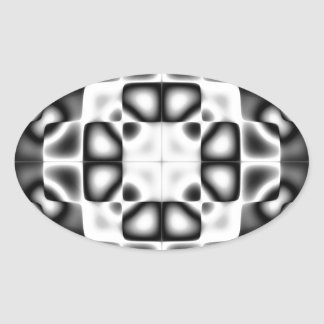 Abstract composition oval sticker