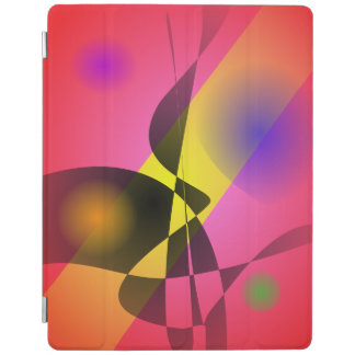 Abstract Composition Red Wind iPad Cover