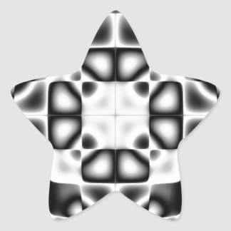 Abstract composition star sticker