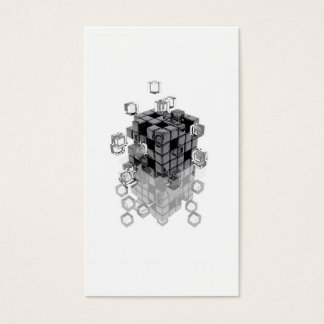 Abstract composition with blocks fitting to business card