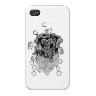 Abstract composition with blocks fitting to togeth cases for iPhone 4