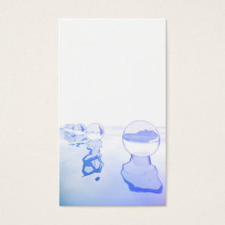 Abstract composition with bubbles to over the is business card