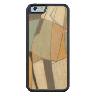 Abstract Composition with Muted Colors Carved Maple iPhone 6 Bumper Case