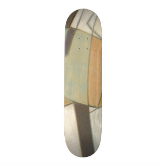 Abstract Composition with Muted Colors Skateboard Deck