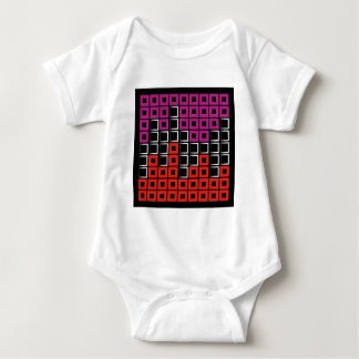 Abstract composition with squares baby bodysuit