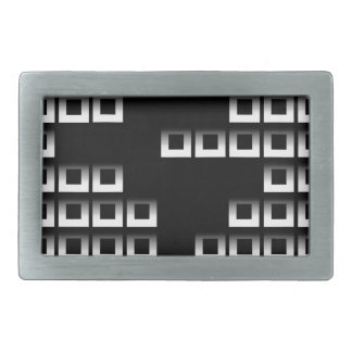 Abstract composition with squares rectangular belt buckles