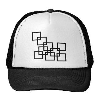 Abstract composition with squares trucker hat
